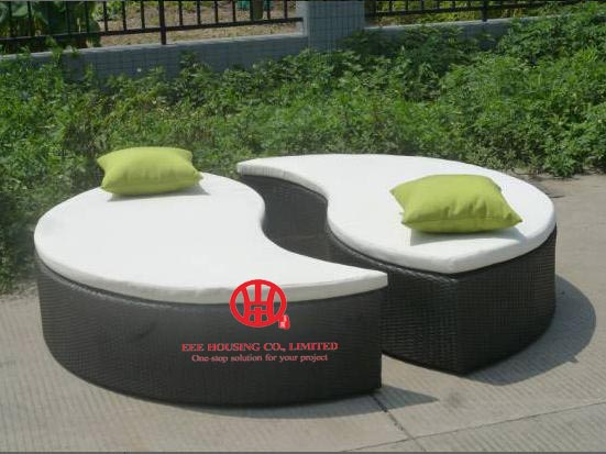 Outdoor Furniture Multi-position Beach Round Outdoor Daybed,garden Beach Lounge Chair