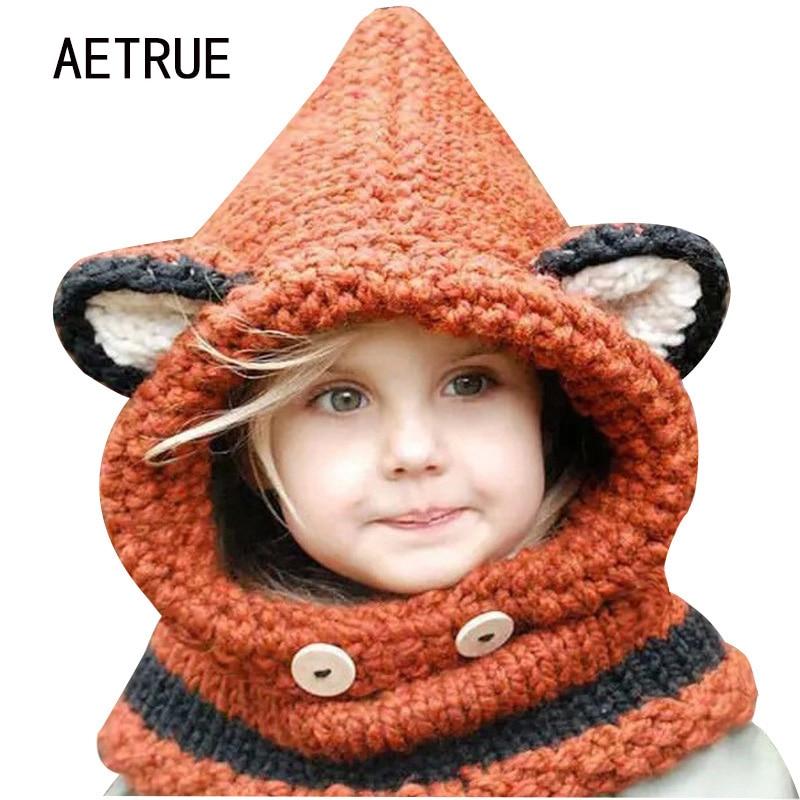 Winter Beanies Hats For Children Scarves Knit Hat Bonnet ...