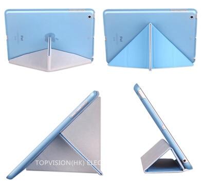 Uyandırma fonksiyonu yeni deri manyetik İnce akıllı kılıf apple - Tablet Aksesuarları - Fotoğraf 6