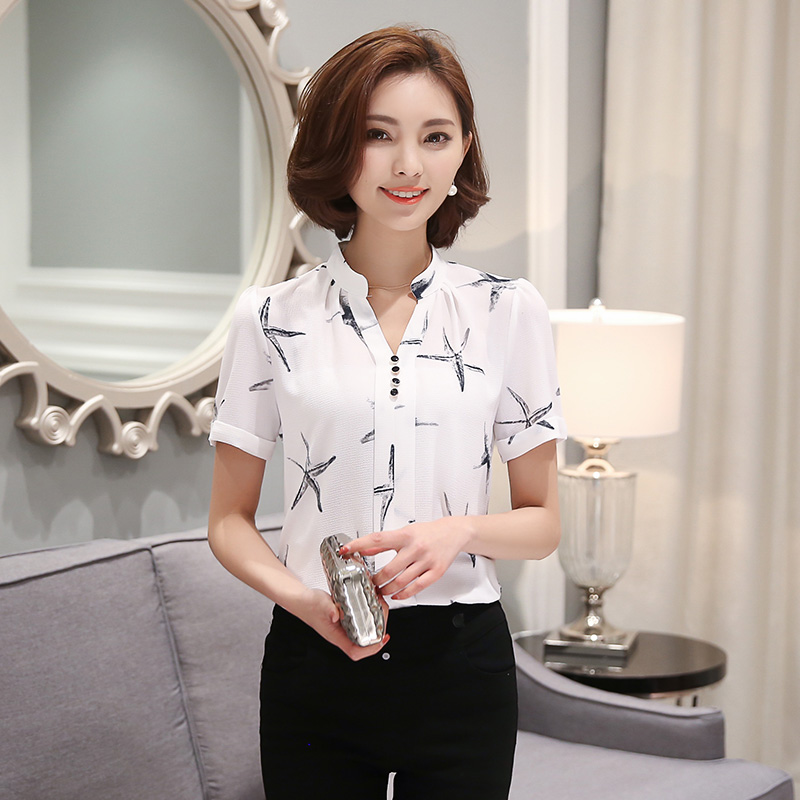 Mad Buy New Arrival Women Lace Shirt Short Sleeve Ladie Photos 1