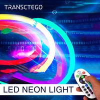 5 Meter Neon Strip Light Flexible RGB LED Neon Light Outdoor 120 LEDs/M Waterproof 2835 Rope Lamps For Home Garden Decoration