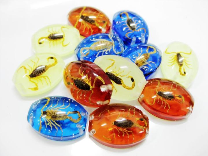 Free shipping 9PCS Real Brown Scorpion Resin Bug Men Xmas Gift Halloween Hallows Day Gift