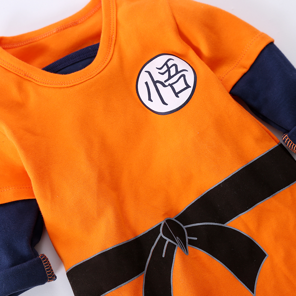 YiErYing High Quality Baby Clothing Baby Cartoon rompers Dragon Ball Style Long Sleeve Baby Jumpsuits Baby Boy Girl Clothes