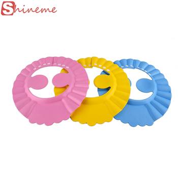 3 color resizable soft chidlren baby shampoo cap bath bathing shower hat wash hair shield with ear accessories supplies children