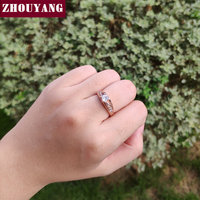 ZHOUYANG Wedding Ring For Women Classic Cubic Zirconia Rose Gold Color Fashion Jewelry Lover Rings Austrian Crystal ZYR249 5