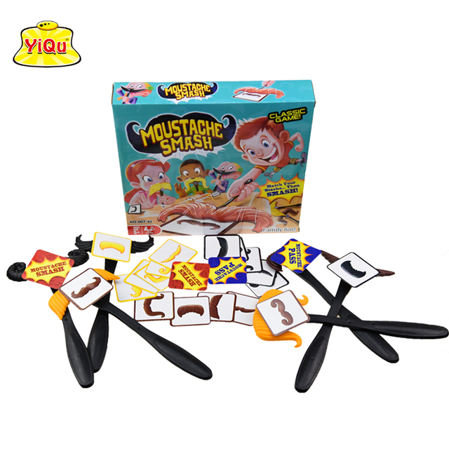 Moustache Smash Classic Family Games Toys Party Supply Award-Winning Board Game Fun Educational toys