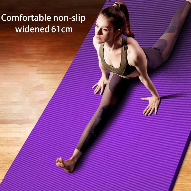 183*61*1.5cm Yoga Mats With Body Line Thick Hot Yoga Pilates Mats Gymnastics Balance Pads Fitness Mats Non-Slip Dance Pads