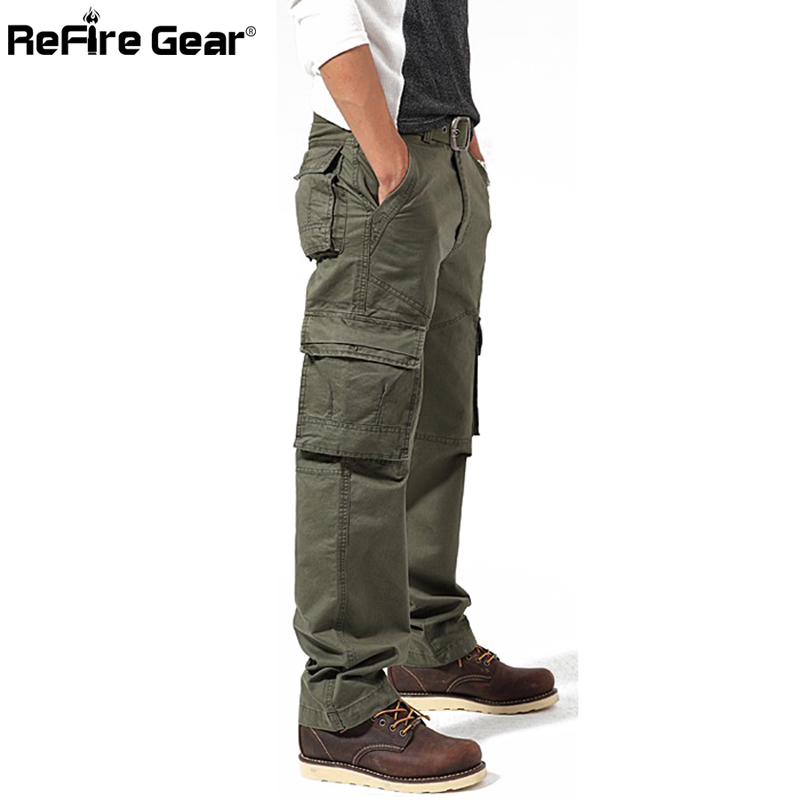 Fashion Militar Style Men's Cargo Pants Casual Large Pockets Tactical Military Pants Spring Male Cotton Fashion Army Trousers