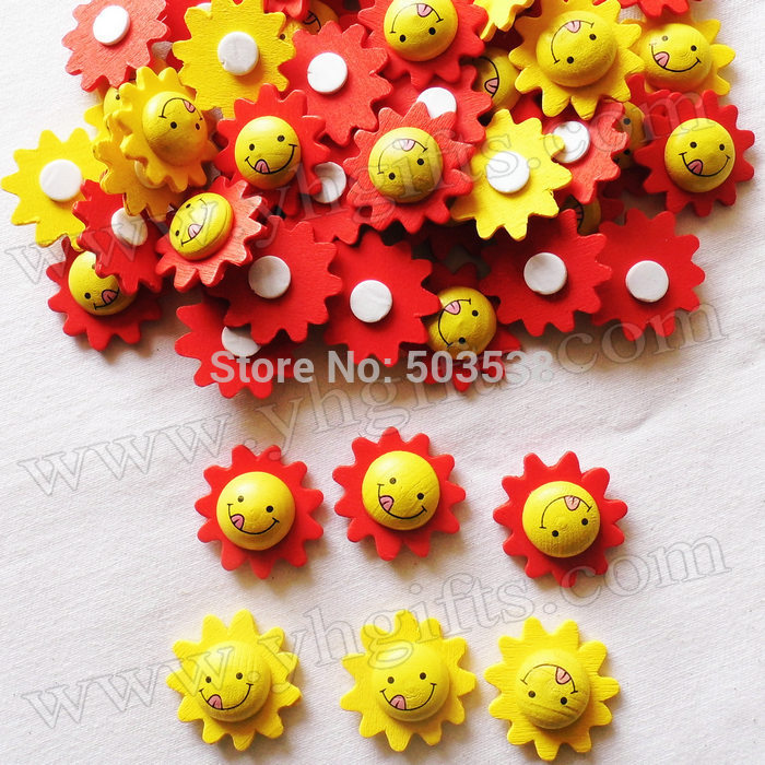 500PCS/LOT,Wood smile face stickers,2.6cm,Kids toys,scrapbooking kit,Early educational DIY.Kindergarten crafts.Classic toys