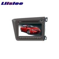 Для Honda Civic правый 2012 ~ 2017 liislee Автомобильный мультимедийный ТВ DVD GPS аудио hi fi Радио оригинальный Стиль навигации