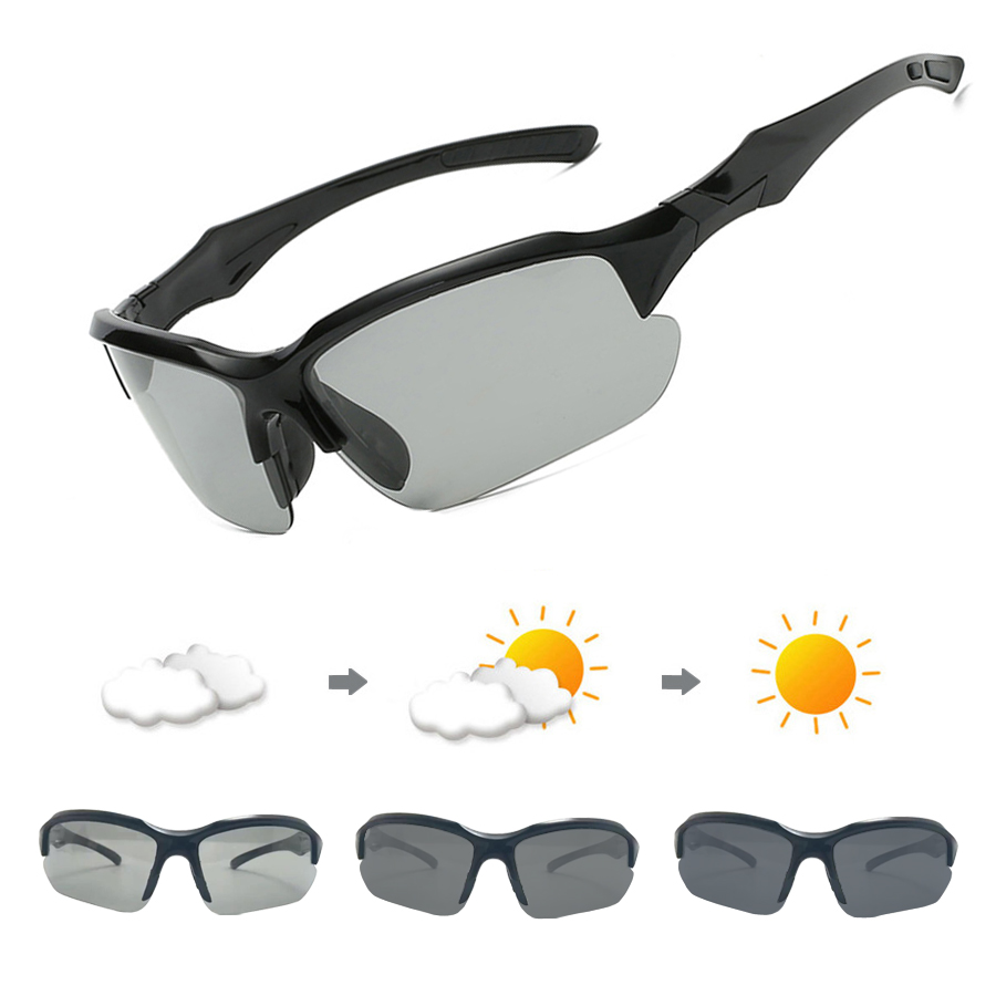 4a28aaa3bb4 Photochromic Cycling Sunglasses Polarized Bicycle Glasses For Men Women  Driving Goggles UV400 MTB Road Bike Sports