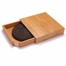 Pu'er Tea boxes Tea cake plate tray Tea Accessories bamboo storage box drawer Insulation pads organizer Crafts home decoration