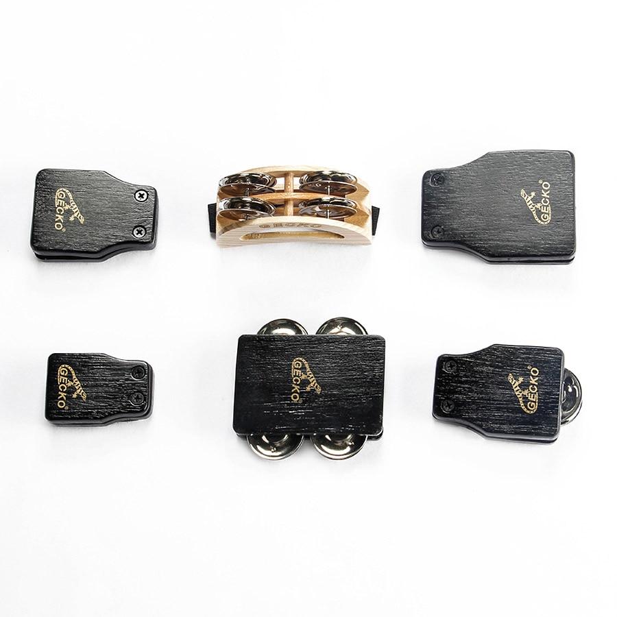 free shipping Drum Companions GECKO Cajon accessories 1 set Gecko GK Series Tambourine Percussion Instruments стоимость