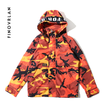 2018 Harajuku Autumn Men's Military Camouflage hip hop Jacket chaqueta hombre Clothing Male Camouflage Windbreakers Street wear