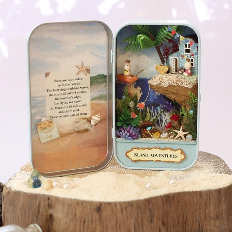 Namještaj DIY Kućica za lutke Wodden Miniatura Kućice za lutke - Lutke i pribor - Foto 2