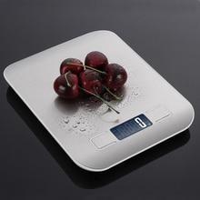 Бытовые кухонные весы, электронные на 5 кг/10 кг 1 г с тонким ЖК дисплеем для кухни, почты