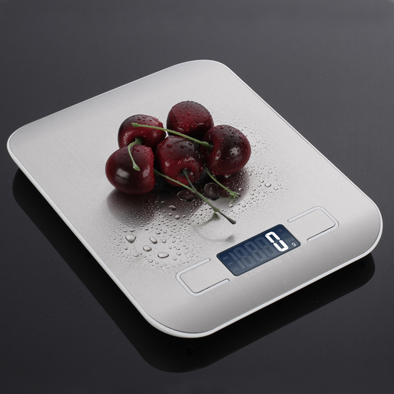 Haushalt Küche skala 5Kg/10 kg 1g Lebensmittel Diät Post Waagen balance Mess werkzeug Schlank LCD Digital elektronische waage