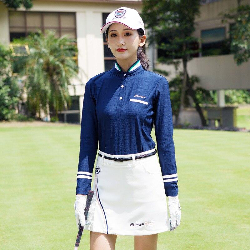 2019 femmes Golf formation t-shirts printemps automne à manches longues hauts chemise respirant tenue de ville Tennis hauts D0691
