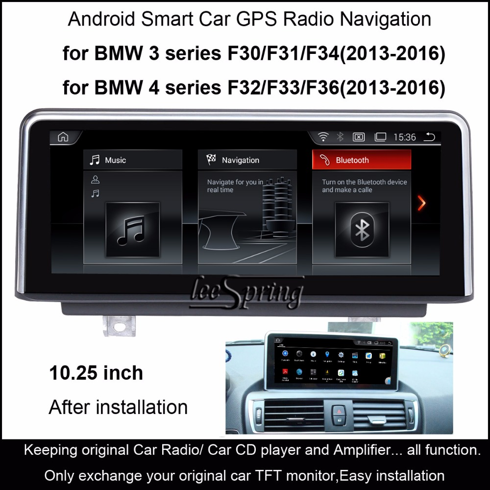 10.25 inch Android 4.4 Car Radio Stereo for BMW 3 Series F30/F31/F34 (2013-2016) 4 series F32/F33/F36 (2013-2016) GPS Navigation