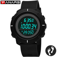 Sport Digital Men Watches 50M Water Resistant Stopwatch Fitness Running Hour Chronograph led Wrist Watch Alarm Clock 8109