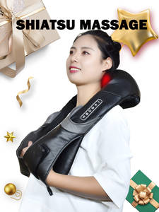 Electric Neck Roller Massager for Back Pain Shiatsu Infrared lamp Massage Pillow