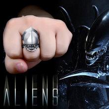 BEIER-anillo de acero inoxidable con diseño de Alien battle Predator para hombre, sortija de Animal de tiburón, regalo para fiesta, recuerdos de invitados, BR8-565, 2018