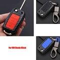 3 кнопки брелок для ключей с дистанционным управлением из углеродного волокна Чехол для автомобильного ключа Держатель для V * W Golf MK7 Touran Tiguan ...
