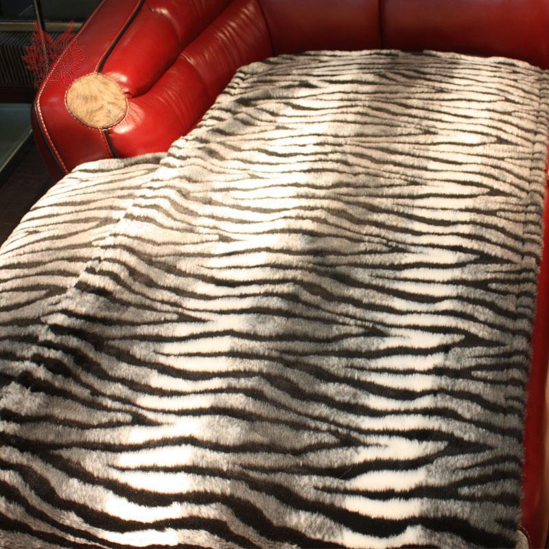 Estilo Europeu Zebra / Leopardo Faux Fur Sofá Capa Para Murchar, Alta  Qualidade Sofá Slipcovers