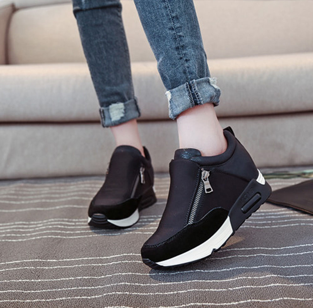Women Fashion Sneakers Sports Running Thick Bottom Platform Shoes sneakers women black 2019 spring summer mujer #3