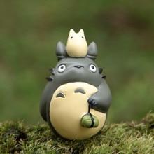 Anime Miyazaki My Neighbor Totoro Rice Dumpling PVC Action Figure Toys Collection Figures Model Toy Micro Landscape for Garden