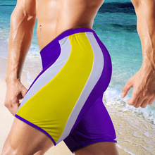 Austinbem Brand Sexy Men Swimwear Swimsuits Swim Boxer Trunks Board Surfing Briefs Gay Quick Drying Solid Color Beach Shorts