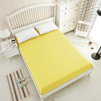 Solid color fitted sheet bed Sheet King bedsheet bedding,bed linen,bed mattress cover White Gray Black Yellow20