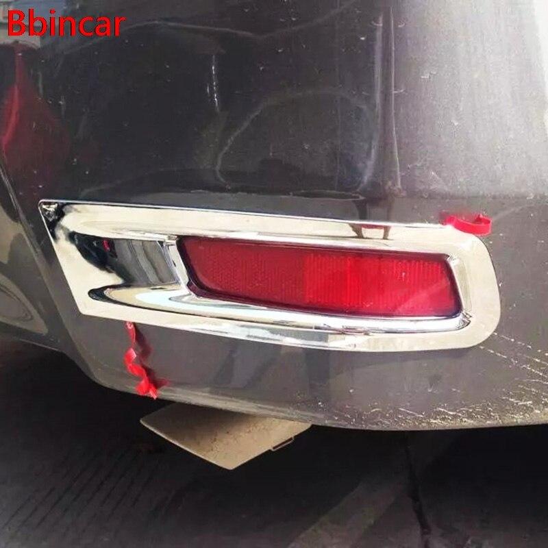Chrome Rear Tail Fog Light Lamp Cover Trim For 13 14 Subaru Forester 2013 2014
