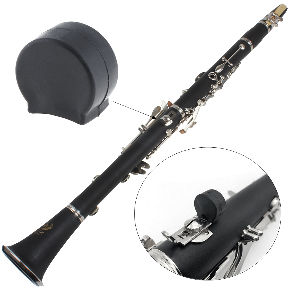 Rubber Clarinet Black Thumb Rest Saver Cushion Pad Finger Protector Comfortable For Clarinets