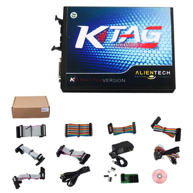 Date V2.13 FW V6.070 KTAG Maître Version avec Illimité Jetons Soutien BDM Fonction Ktag K tag K-tag Auto ECU Chip Tuning Outil
