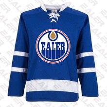 Прохладный Хоккей Эдмонтон льда тренировочный хоккейный свитер с печатью логотипа,, на заказ, E066