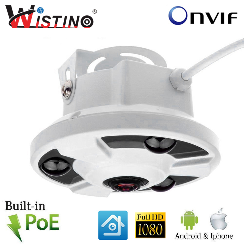 Panoramic Camera IP 720P 960P 1080P XMEYE IP Camera Wide Angle FishEye 5MP 1.44MM Lens Camera CCTV Indoor ONVIF 3 ARRAY IR LED купить