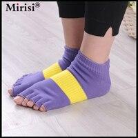 1Pair Half Five Fingers Cotton Half Toe Yoga Socks Non Slip Peep Toe Anti Slip Pilates