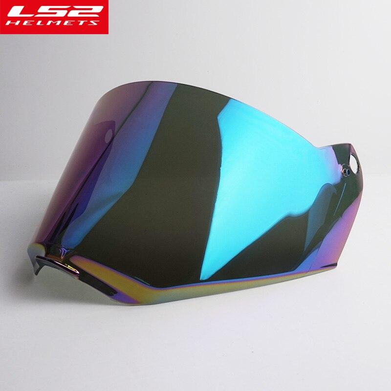 LS2 MX436 Motorcycle Helmet Face Shield Motocross Off Road Helmet Anti Scratch Lens Visor Color Clear
