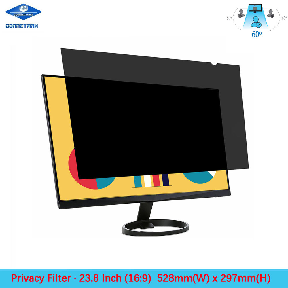 23.8 Inch Privacy Filter Screen Protector Film For Widescreen Desktop Monitors 16:9 Ratio