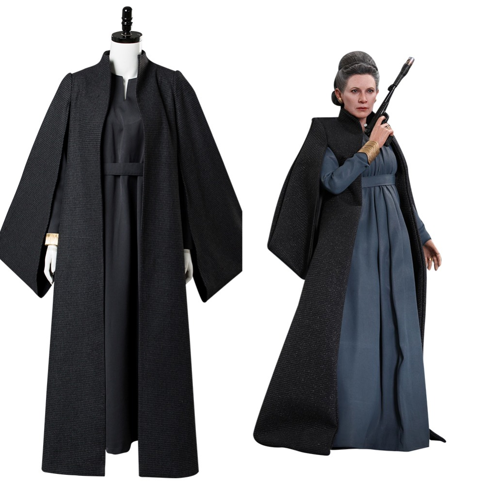 Star Wars 8: The Last Jedi Leia Organa Solo Outfit Ver. 2 Cosplay Costume full sets