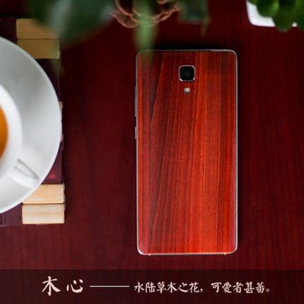 Xiaomi mi4 batareya qapağı m4 Bambuk üslublu batareya - Cib telefonu aksesuarları və hissələri - Fotoqrafiya 5