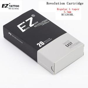 Image 1 - EZ 문신 바늘 혁명 카트리지 바늘 라운드 라이너 #12 (0.35mm) L 테이퍼 5.5mm 로타리 기계 및 그립 20 개/몫