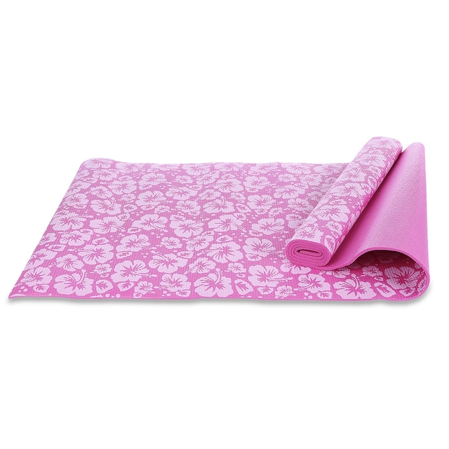 PVC Yoga Mat 0.6cm Flower Printing Yoga Mat