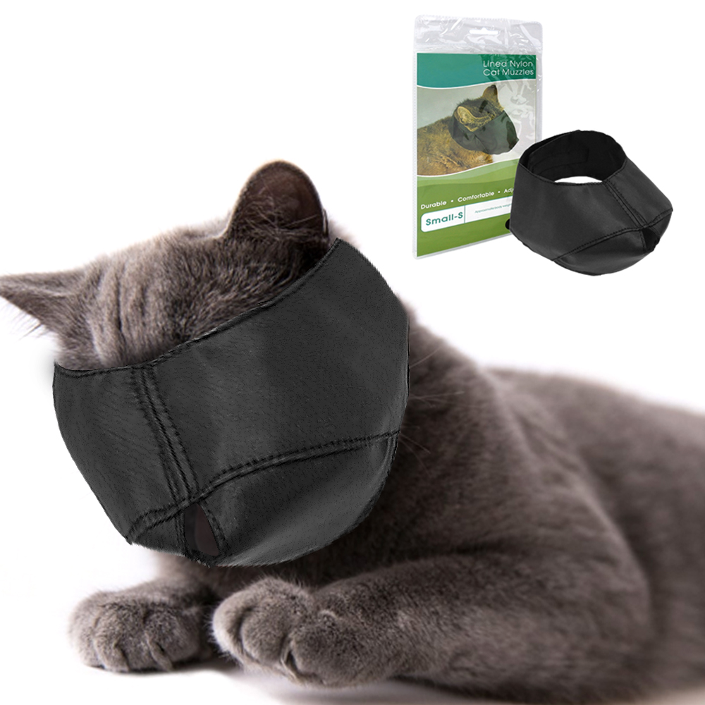 Nylon Cat Muzzle Bath Protection Mask Kitten Travel Tool Light Convenient Bathing Muzzles Anti Bite Cat Grooming Supplies