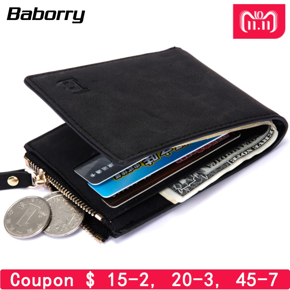 Dollar Price with Coin Bag Zipper Men Wallet Wallets for Men with Coin Small Money Purses Wallets New Design Top Men Thin Wallet цена