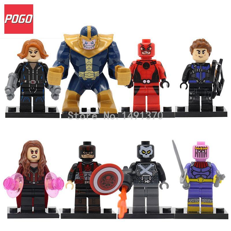 Single Sale Marvel Super Hero Hydra Captain America Building Blocks Black Widow Scarlet Witch Model Sets Bricks Kids Toys Gift the falcon marvel super hero sam wilson figure the avengers captain america building blocks sets model bricks toys for children