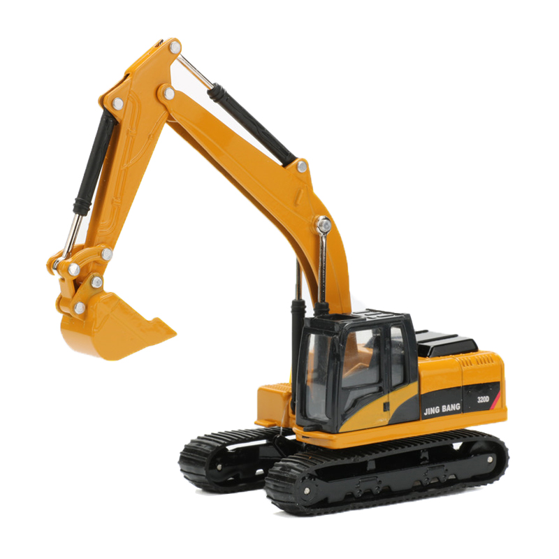 1:60 Excavator Alloy Car Toy Digger Model Truck Engineering Vehicle Miniature Trucks Toys For Children Cars 1 50 drill wagon alloy truck engineering vehicle toy car model dinky toys for children boys gift