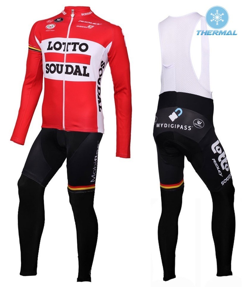 2016 Lotto Soudal Red Winter Thermal Fleece Cycling Jerseys Warm Long Sleeve Bike Clothing Equipo De Ciclismo Bicycle Clothes male team cycling jerseys autumn cycling clothes long sleeve bike jersey winter fleece bicycle riding suits free shipping