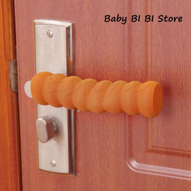 Baby Child Doorknob Pad Case Spiral Anti-collision Door Handle Protective Sleeve Kids Safety Gates And Doorways